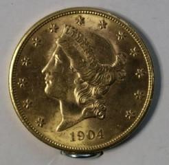 1904-S Gold $20 Liberty Head U.S. Coin