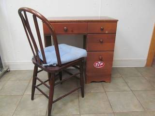 vintage student desk ,vintage chair