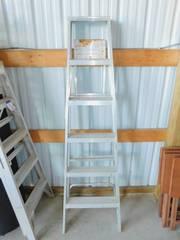 Silver Metal Ladder