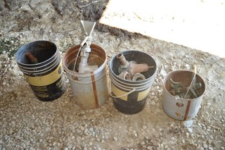 (4) Pails of Irrigation Fittings, Valves,