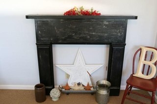 Painted Wood Fireplace Mantle