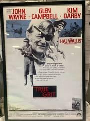 Framed True Grit John Wayne Movie Poster 28 1/2