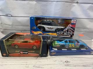 Bugatti Burnago, Hot Wheels Cop Rods & Dupont Nascar Cars