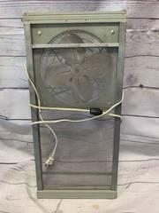 Antique Screen Fan 10 1/4