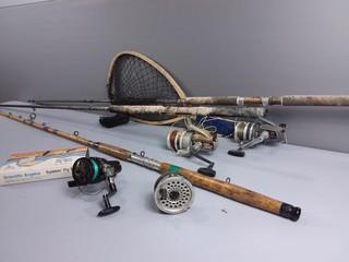 Fishing Rods, Reels & Net