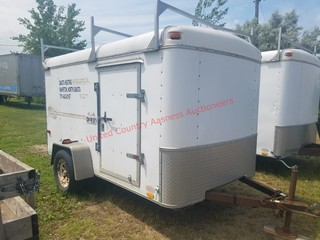 UNITED 12ft SMALL WHITE ENCLOSED TRAILER