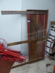 Barn board headboard 65