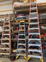 Assorted step ladders