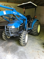 New Holland TC 45D front end loader tractor, 2343 hours
