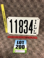 Online Only Auction of License Plates, & Signs