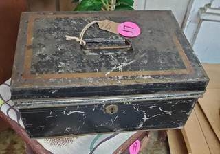 OLD METAL BLACK BOX