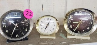 3 VINTAGE CLOCKS * WESTCLOCK