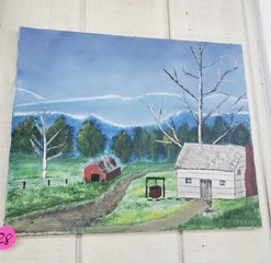 NICE FARM HOUSE PAINTING ON CANVAS