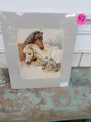 HORSE AND CAT CALENDAR MATTED PAGES