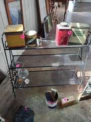 3 SHELF BLACK IRON RACK
