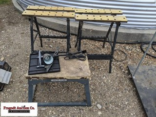 3 misc saw horses/stands