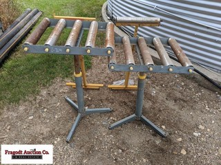 (4) Misc saw stands, 1-is missing roller