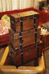 3pc Wood Chest Nesting Boxes
