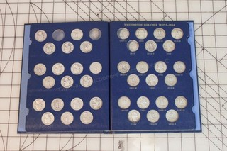 1932-1964 Washington Quarters Book- 80% Complete