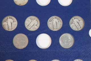 1934-1978 & Liberty Quarters Coin Book- 80% Full