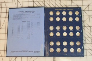 1946-1965 Roosevelt Dimes Book - 94% Complete