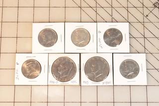 7pc Eisenhower Dollars & Kennedy Halves