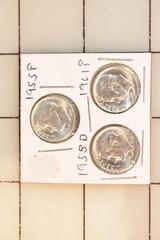 3pc Roosevelt Dimes - 1955p, 1958d & 1961p