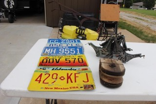 Clamps, Pulley, License Plates