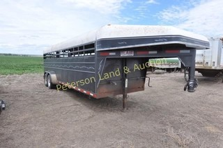 2000 Blair 6? 6 x 24? Stock trailer