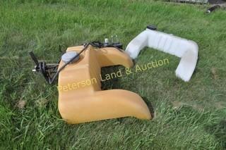 25 gal Wraparound ATV sprayer & 16 gal Auxillary