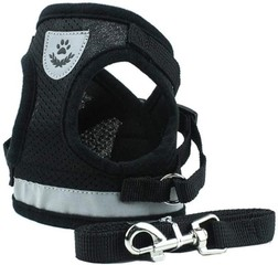 BVAGSS Soft Mesh Puppy Vest Harness Adjustable Pet