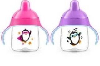 Philips Avent My Penguin Sippy Cup 9oz, Pink and