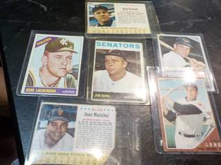 6 1960s Baseball Cards...