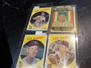 4 1959 Topps Baseball Cards...