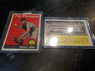 2 1958 Topps Baseball Cards...