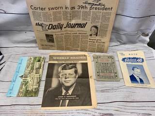 Vintage Advertising including JFK Weekly Reader