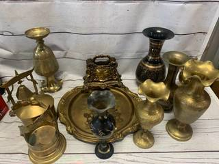 Large Lot of Brass Decorative Ware