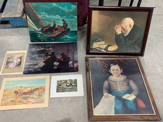 Lot of 7 Pieces of Artwork