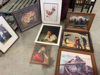 Lot of 8 Pieces of Artwork
