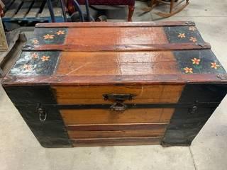 Antique Steamer Trunk 32