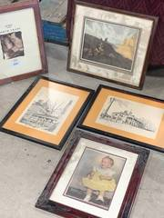 Lot of 5 Pieces of Artwork