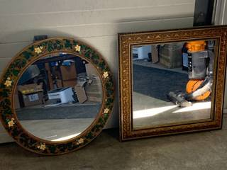 Lot of 2 Vintage Ornate Framed Mirrors