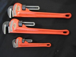 Box Lot - 3 Ridgid Pipe Wrenches (2-18
