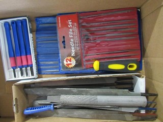 Box Lot - Misc. Needle File Sets & Files