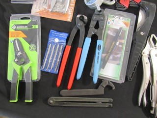 Box Lot - Vise Grips, Hex Key Sets, Strippers,