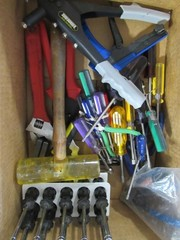 Box Lot - Misc. Wrenches, Nut Drivers, Rivet Tools