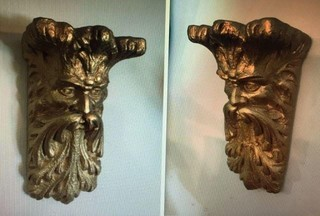 Pair of Old Man North Wall Décor/Shelves