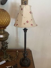 Stick Table Lamp With Dale Tiffany Shade