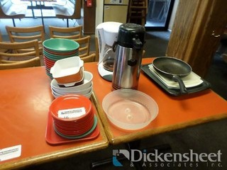 Bowls, Coffee Maker, Coffee Dispenser and