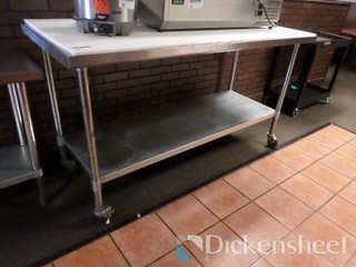 Stainless Steel Table On Casters,